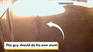 Người đàn ông thoát khỏi vụ nổ trong tích tắc như phim hành động