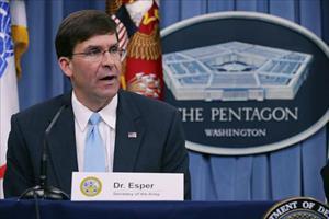 Bộ trưởng Quốc phòng Mỹ Mark Esper sắp thăm chính thức Việt Nam