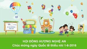 HĐH Nghệ An: Chúc mừng ngày Quốc tế thiếu nhi 1-6-2016