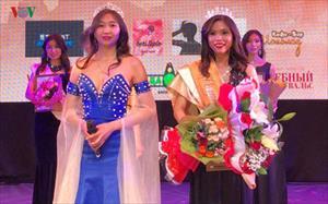Nữ sinh Việt giành giải cao cuộc thi Miss Asia Ural tại Nga