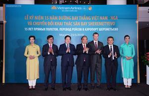 Thủ tướng dự lễ kỷ niệm 15 năm đường bay thẳng Việt-Nga