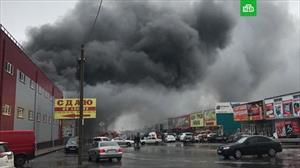 Cháy chợ hàng gia dụng ở tỉnh Rostov na Donu