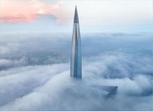 Chóng mặt với tòa tháp cao nhất châu Âu sắp hoàn thành tại Nga