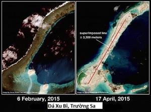 Trung Quốc điên cuồng xây dựng thêm 2 sân bay trái phép ở Trường Sa