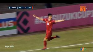 """""""Song Đức"""" ghi bàn giúp Việt Nam giành chiến thắng 2-1 trước Philippines"""