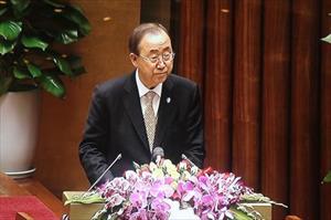 Tổng thư ký LHQ Ban-Ki-Moon thăm Quốc hội Việt Nam