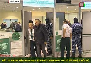 Bắt 10 nhân viên hải quan sân bay Domodedovo vì tội nhận hối lộ