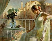 Vẻ đẹp mê hoặc của phụ nữ Nga trong tranh