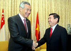 Thủ tướng Singapore Lý Hiển Long đến TP HCM