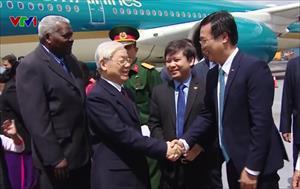 Tổng Bí thư Nguyễn Phú Trọng đến La Habana, thăm chính thức Cuba 