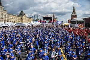 Hình ảnh hơn 4.000 người tham gia luyện tập boxing tập thể ở Nga