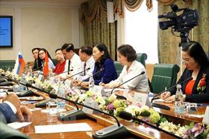 Việt Nam và Liên bang Nga thúc đẩy hợp tác nghị viện