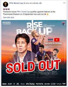FIFA ấn tượng với cơn sốt vé trận Thái Lan - Việt Nam
