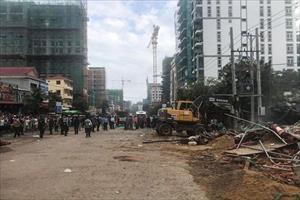 Sập công trình Trung Quốc thi công ở Campuchia, 30 người bị chôn vùi