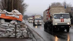 """EU """"đua"""" Nga, gửi hàng viện trợ cho miền Đông Ukraine"""